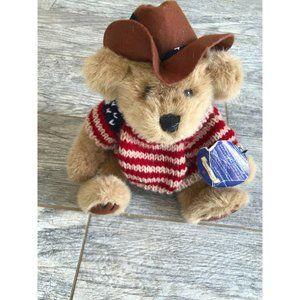 "NWT Patriotic Brass Button Cody 11"" Bears Western"